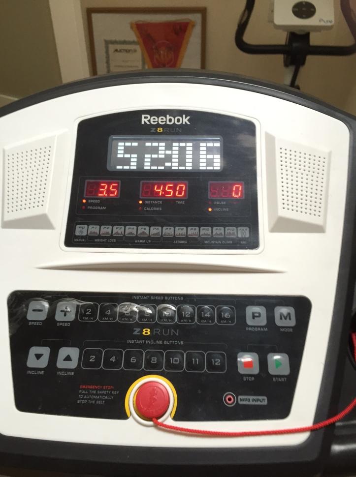 treadmill readout