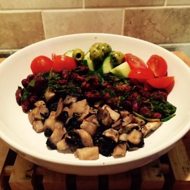 spinachy bean feast