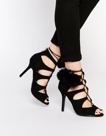 on feet